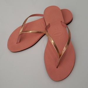6460598ee Havaianas Shoes - Havaianas You Metallic Flip Flop Rose Gold 7 8